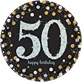 #8: Wanna Party 50th Birthday Sparkling Paper Plates 9