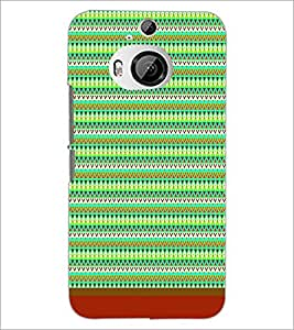 PrintDhaba Tribal Pattern D-1720 Back Case Cover for HTC ONE M9 PLUS (Multi-Coloured)