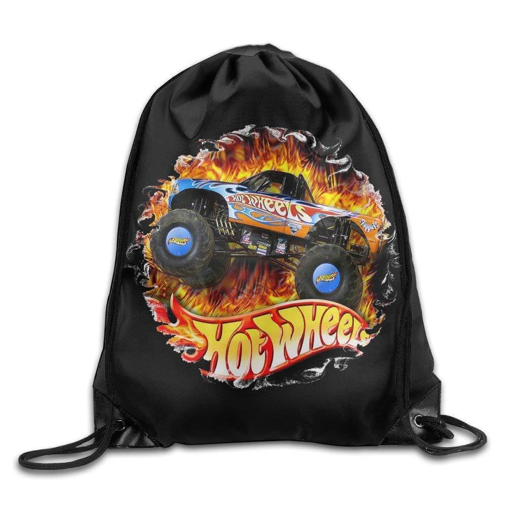 Bolsas de Gimnasia Bolsas de Cuerdas, Hot Wheels Nylon Drawstring Sack Bag Home Travel Sport Storage Fashion