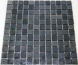 Restposten Fliesen Mosaik Mosaikfliese Keramik Quadrat schwarz 8mm Neu #HO30