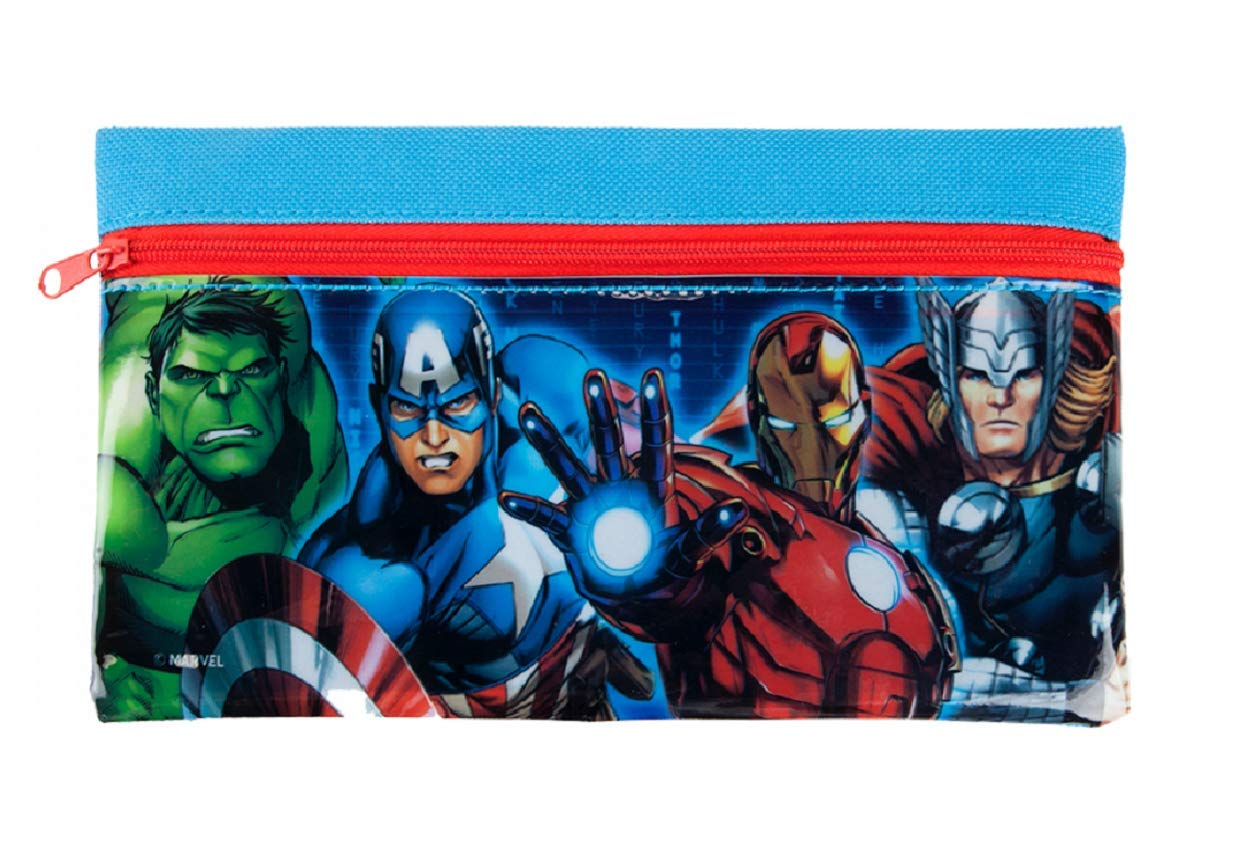 Marvel Avengers – Estuche plano con cremallera, ideal para la vuelta al cole