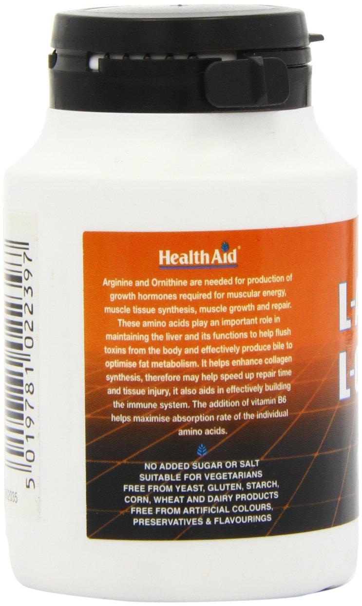 61XglQ9RibL - HealthAid L-Arginine with L-Ornithine 300mg - 60 Tablets