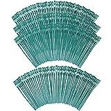 COM-FOUR® 200x Legante vegetale in plastica, legante vegetale Verde, Clips per Piante, 17 cm (200 Pezzi - 17 cm)