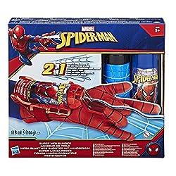 Con il mitico guanto spararagnatele di Spider-Man, potrai lanciare ragnatele anche tu, proprio come il tuo supereroe aracnide preferito. Carica il fluido colorato incluso e preparati a irrompere nell'azione. Le ragnatele non sono solo un'ottima arma ...