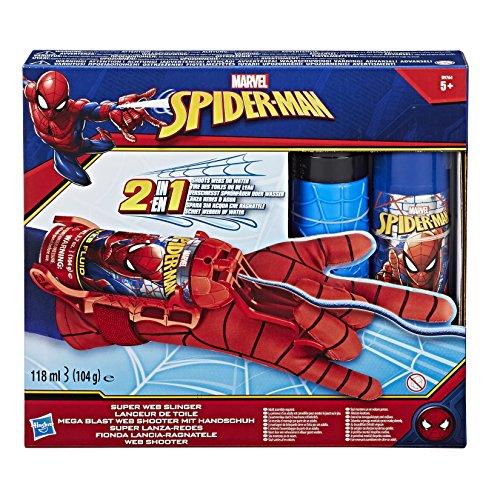 Kostüm Kreatur Wasser - Hasbro Spider-Man B9764EM0 - Mega Blast Web Shooter, mit Handschuh, inklusive Sprühflüssigkeit