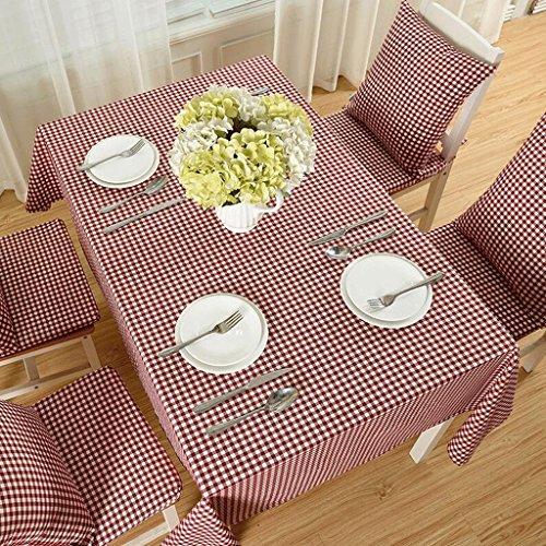 TXXM Nappes Nappe en polyester à carreaux rouge (taille : 130 * 220cm)