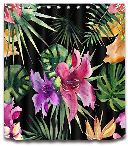 Marcus R Caveggf Badezimmer Duschvorhang, Top Qualität Anti-Schimmel Duschvorhänge Digitaldruck inkl. 8-12 Duschvorhangringe, 001 - Trocknen Wildblumen
