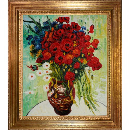 overstockart-vg1449-fr-7993620x24-vincent-van-gogh-vase-with-daisies-and-poppies-20-inch-by-24-inch-