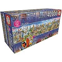 Educa Borras-42000 Around The World Puzzle, Colore Vario, 17570