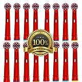 Drkao® Paquete de 16 cabezales de cepillo de dientes para niños fabricados con nailon Dupont cabezales de cepillo de dientes eléctrico para niños estándar para Oral B cabezales de cepillo de dientes eléctrico niños 16 unidades EB-10A (16)