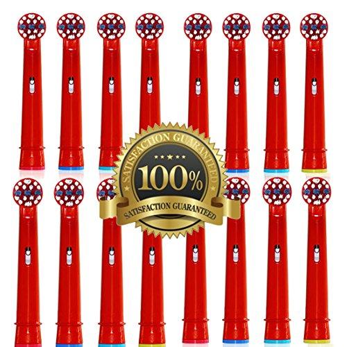 Drkao16 Stück Aufsteckbürsten für Oral B Kinder Elektrische Zahnbürstenköpfe für Braun Oral B Elektrische Zahnbürste Kinder Aufsteckbürsten Köpfe für Oral-B kids Aus Hochwertigem Dupont-Nylon (Elektronische Zahnbürste Duale)