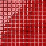 1qm Glas Mosaik Fliesen 30cm x 30cm Matte in Rot (MT0022 m2) für Wände