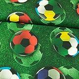 Stoffe Werning Baumwolljersey Digitaldruck großer Fußball 160 cm breit - Preis gilt für 0,5 Meter