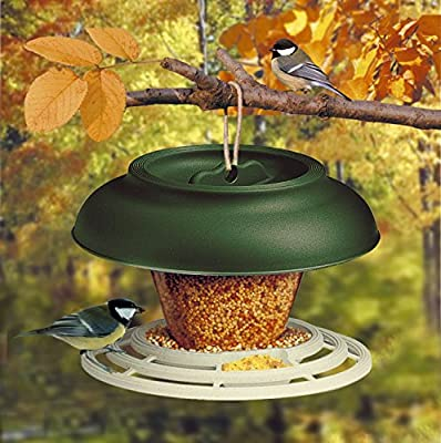 """Heritage Deluxe """"Break"""" Wild Bird Hanging Feeder Garden Seed Feeders Rainshelter Weatherproof by Deluxe Wild Bird Hanging Feeder Garden Seed Feeders Rainshelter Weatherproof"""