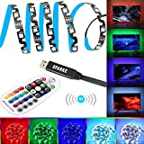 LED TV Backlight, Sparke 5050 3m Multicolor LED Strip Lights with Remote Controller, S-shape any-angel Bendable Flexible Lighting Strip for TV Monitor Home Theater
