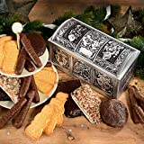 Wappentruhe (Maße: 24x11,5x12 cm) In dieser wunderschön geprägten Truhe finden Sie einen reichen Lebkuchenschatz