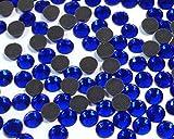 Perlin - Hotfix Strasssteine, 2880stk, Royal Cobalt Blau, 5mm SS20 AAA Qualität, 20 Gross, zum Aufbügeln, Hotglue, Glitzersteine Rhinestone Großhandel Glass Strass Perlen 454 x2