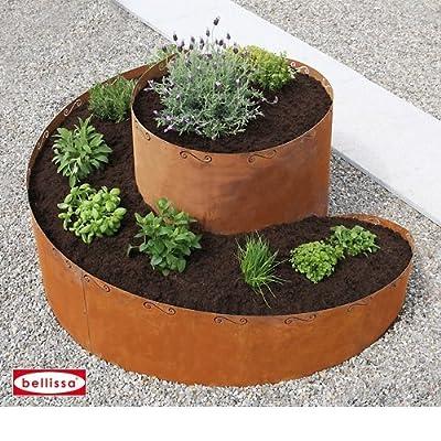Kräuterspirale Corten 130 x 140 x 80 cm 91008 von Bellissa - Du und dein Garten