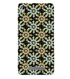 PrintVisa Designer Back Case Cover for Micromax Canvas Juice 3 Q392 (Girly Pattern Tribal Floral Fabric Culture Rajastan Andhra)