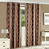 "Story@Home Eyelet Fancy Polyester 2 Pc COMBO Ringtop Eyelet Designer Door Curtains,  7 ft  46 "" X 84 "" Coffee"