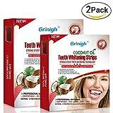 Grinigh 56 Bandes de Blanchiment des Dents Kit de Blanchiment Dentaire avec Huile de...