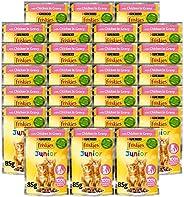 Purina Friskies Kitten Chicken Chunks In Gravy Wet Cat Food Pouch 85g (26 Pouches)