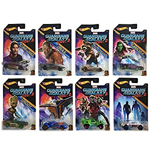 SET of 8 Models from GUARDIANS OF THE GALAXY VOL. 2 Movie in Scale 1/64 DieCast MARVEL Hot Wheels