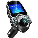 Manos Libres Bluetooth Transmisor FM Coche de VicTsing, Bluetooth Coche Musica FM Transmisor,Reproductor MP3 Coche, Adaptador