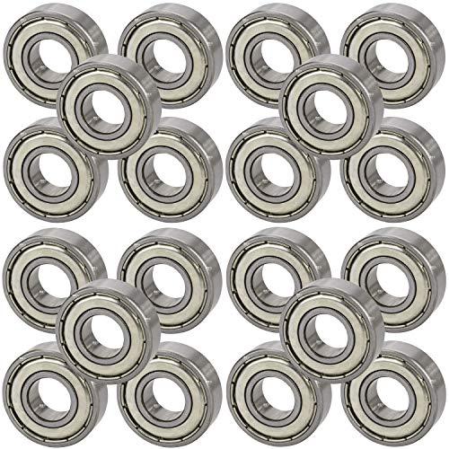 [ JBS basics ] Kugellager 20 Stück [ 608 ► 8 x 22 x 7 mm ZZ ] Metall Industrie Rillen Radial Lager Achse Welle Maschine 3d Drucker (608 ► 8 x 22 x 7 mm, ZZ, 20) -