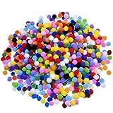 Pompons für Handwerkmachen und Hobbybedarf 0,4 Zoll, 1000 Stück, Mehrfarbig