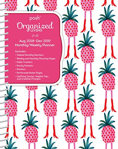 Posh: Organised Living Pineapple A-Go-Go 2018-2019 Monthly/Weekly Planning Calendar
