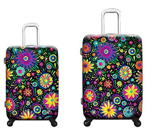 Sets de Bagages, valises - Première Classe Valise Rigide Set 2 pièces - Heys Artistes Limon Flowers Dance Trolley avec 4 Roues Mèdias + Trolley avec 4 Roues Grand