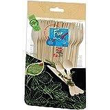 ادوات مائدة خشبية للاستعمال مرة واحدة صديقة للبيئة من فن® افري داي مقاس 6.5 انش - عبوة من 25 قطعة