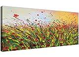 Modernes Gemälde auf Leinwand mit Blumen