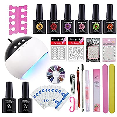 Coscelia 36W Nail Dryer Lamp 12 Colored UV Gel Polish False Nail Tips Nail Art Design Kit