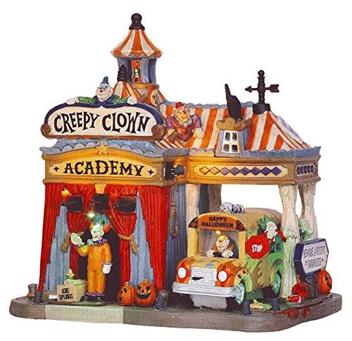 Lemax Creepy Clown Academy Gruselige Stadt animiertes Gebäude