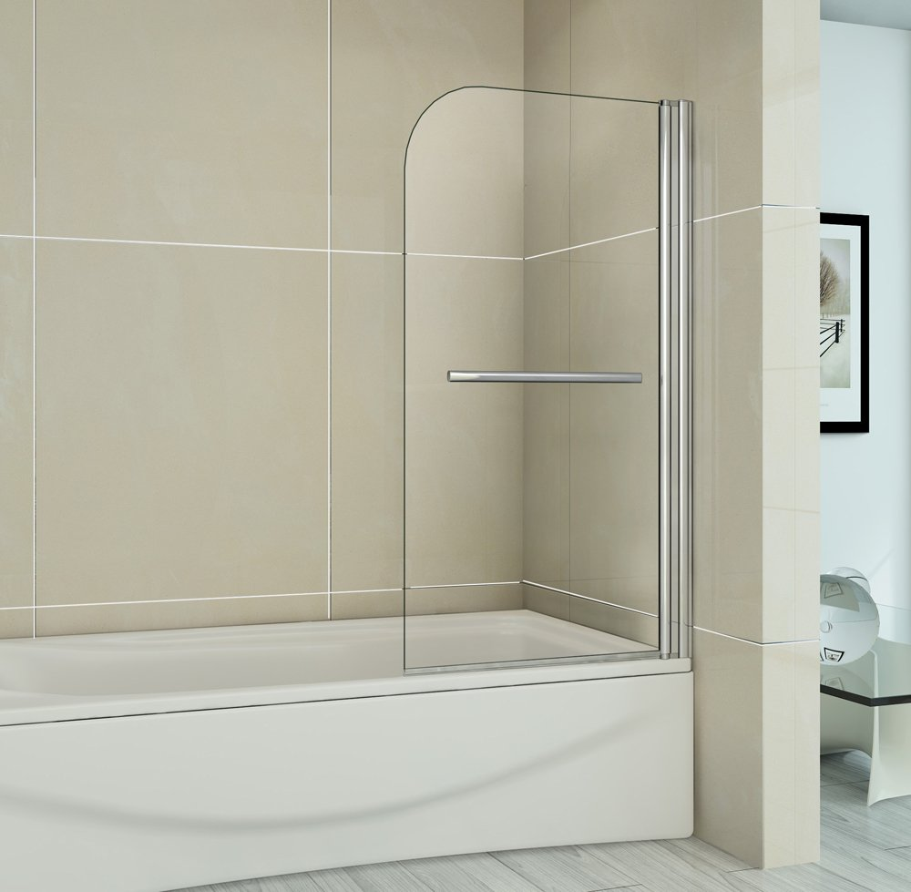 800x1500mm pivot bath screen easyclean glass shower screen panel 800x1500mm pivot bath screen easyclean glass shower screen panel next working day delivery with towel rail amazon co uk kitchen home