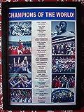 Sport stampe UK calcio FIFA World Cup vincitori 1930–2018–incorniciata stampa