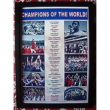 Sports Prints UK FIFA football World Cup winners 1930-2018 - framed print