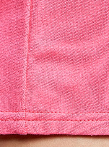 oodji Ultra Damen Jersey-Shorts Basic Rosa (4D00N)