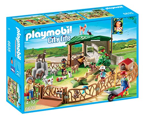 Playmobil 6635 City Life Children's Petting Zoo with Many Animals