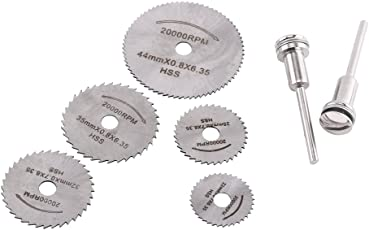 GOTOTOP Mini HSS Rotary Tool Saw Blades for Metal Cutter Power Set Wood Cutting with 2 Rods