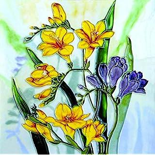 YH-Arts 8x8 FREESIAS, Multicolour, 20x20x0.9 cm