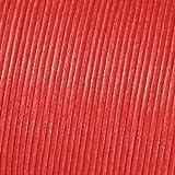 Kumihimo Coton ciré Cordon 2mm x 6m, Rouge