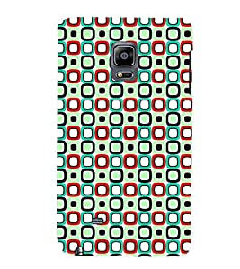 Printvisa Green And Blue Square Pattern Back Case Cover for Samsung Galaxy Note Edge::Samsung Galaxy Note Edge N915