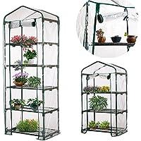 PVC Warm Garden Tier pianti mini serra di ferro (senza supporto)