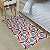 #7: The Home Talk Multicolor Printed Cotton Rug/Bed side runner/ Passage Runner (50x100cm)- Multicolor