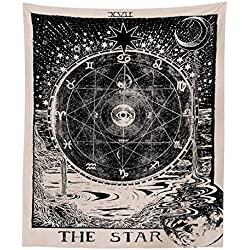 Indian Mandala Sun Tapestry Wall Hanging Carpet Medieval Astrology Decor Tapestry Throw Yoga Mat Bohemian Beach Blanket Bedspread Travel for Home Bedroom Dorm Decoration 80in x 60in ...