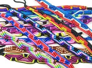 Pack of 12 Flat Friendship bracelets - different colours