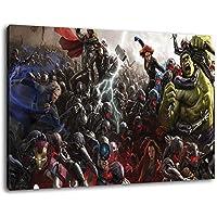 Marvel Heroes formato 60x40 cm dipinto su tela, XXL Immagini enormi completamente Pagina con la barella, incorniciatura sulla foto muro con telaio